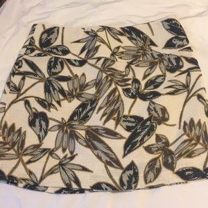 J. Crew Gold Foil Leaf Skirt